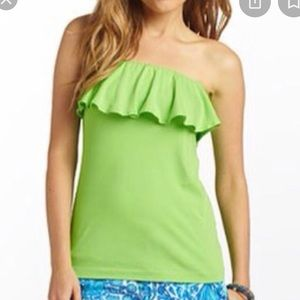 Lilly Pulitzer Bright Green Tube Top Size Small